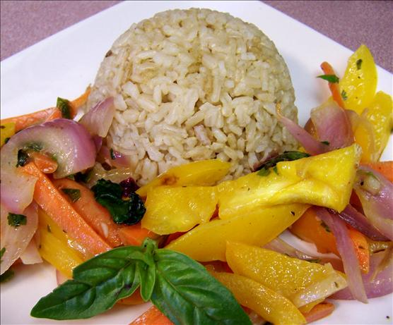 Coconut Green Curry Brown Rice. Photo by Rita~