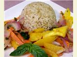 Coconut Green Curry Brown Rice