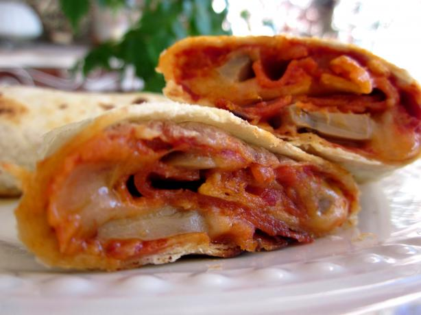 Pizza wraps. Photo by gailanng