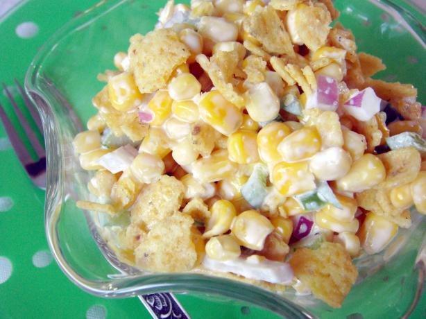 Paula Deen's Corn Salad. Photo by Lori Mama