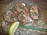 Marinated Scottish Salmon Doused in Scotch Whisky