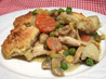 Chicken Pot Pie with Buttermilk Biscuit Crust. Recipe by Danielle in New Hampshire