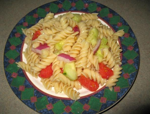 Sweet and Sour Pasta Salad. Photo by michelles3boys