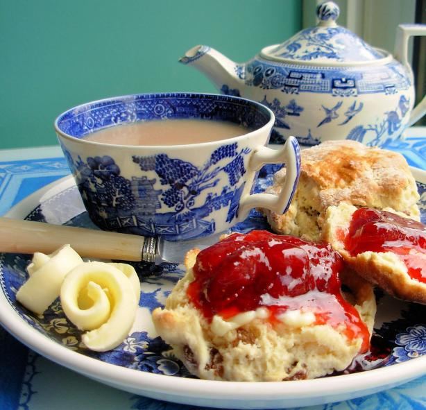 Traditional English Tea Time Scones With Jam and Cream. Photo by French Tart