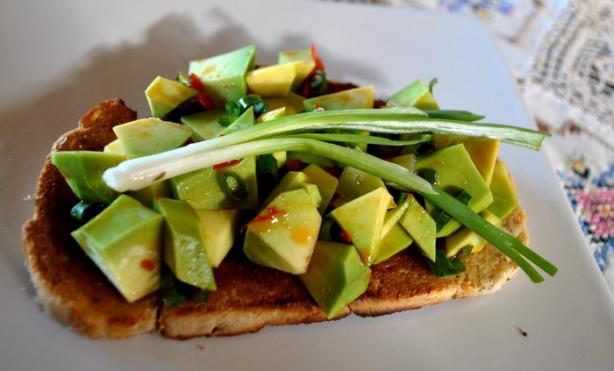Bruschetta With Avocado and Chilli Pepper Topping. Photo by Zurie