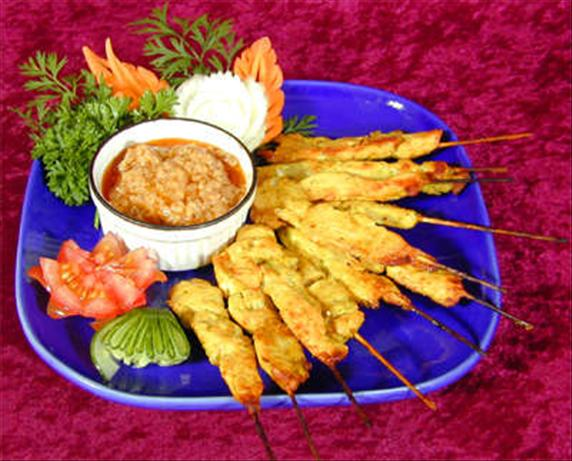Satay Chicken. Photo by Food.com *