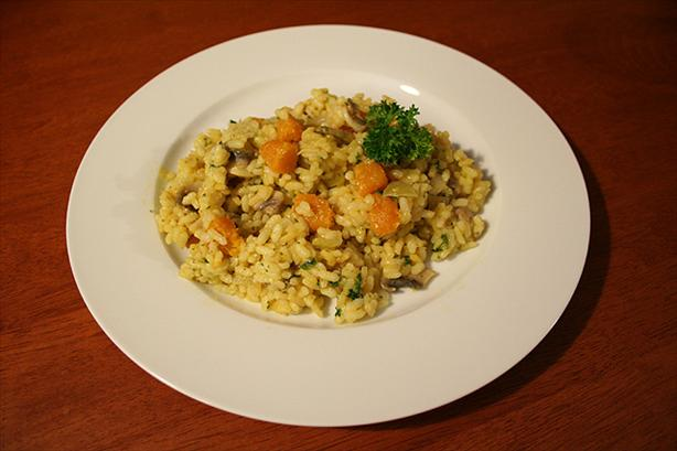 Pumpkin risotto. Photo by Rainette