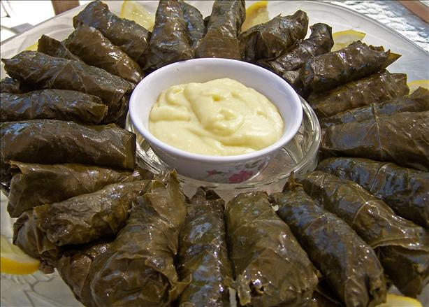 Stuffed Grape Leaves (With Meat). Photo by Rita~