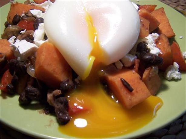 Sweet Potato & Black Bean Hash. Photo by Moor Driver