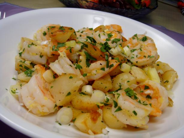 Potatoes Sauteed With Shrimp. Photo by Lori Mama
