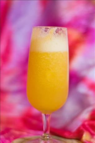 Virgin Peach Bellini. Photo by Michelle Berteig