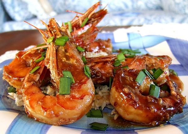 Ginger-Honey Glazed Shrimps. Photo by Zurie