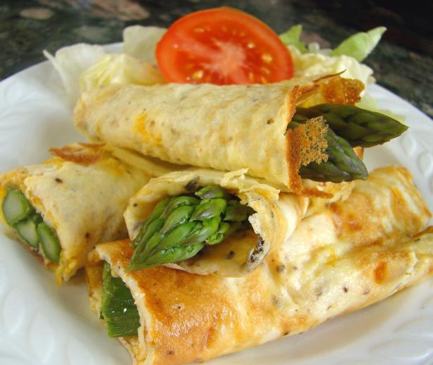 Asparagus  Omelette Wraps. Photo by Derf