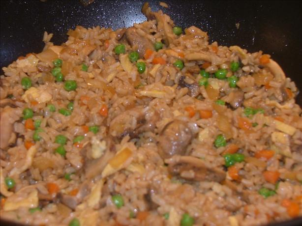 Fried Brown Rice. Photo by Lvs2Cook