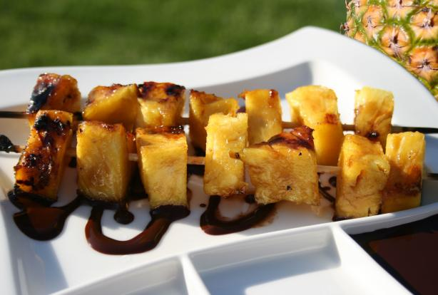 Caramelized Pineapple With Hot Chocolate Sauce. Photo by **Tinkerbell**