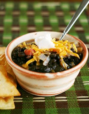 Black Bean Soup. Photo by Dine & Dish