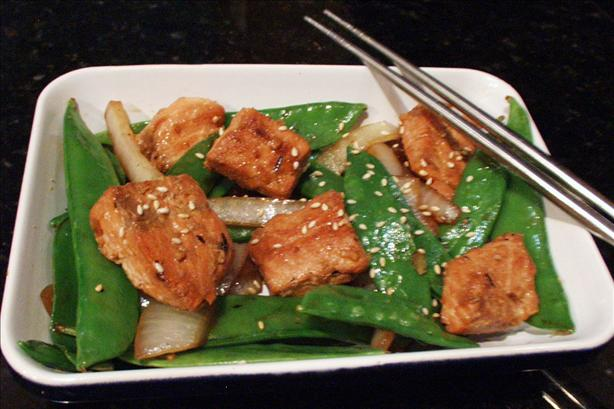 Salmon and Snow Pea Stir Fry. Photo by FLKeysJen