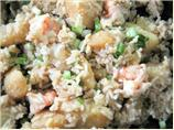 Potato Rice With Prawns