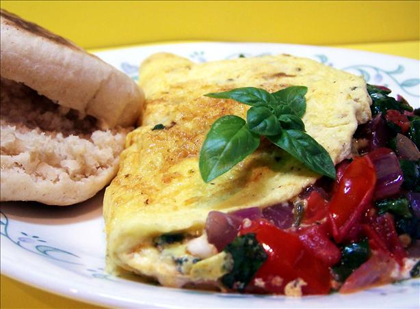 Greek Omelet for 1. Photo by PaulaG