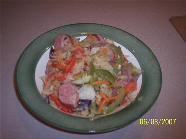 Cabbage Kielbasa Skillet. Photo by children from A to Z