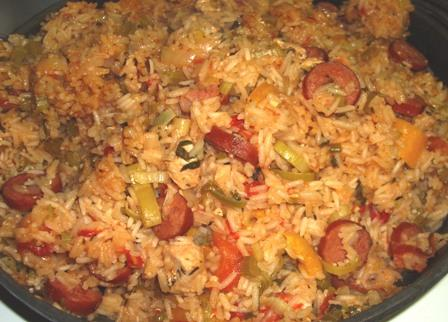 Spicy Cajun Chicken and Sausage Jambalaya. Photo by Karen Elizabeth