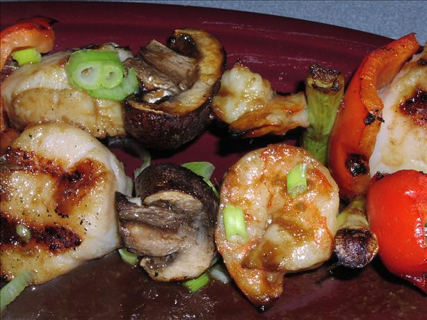 Soy-Wasabi Shrimp and Scallop Skewers - Weight Watchers. Photo by TeresaS