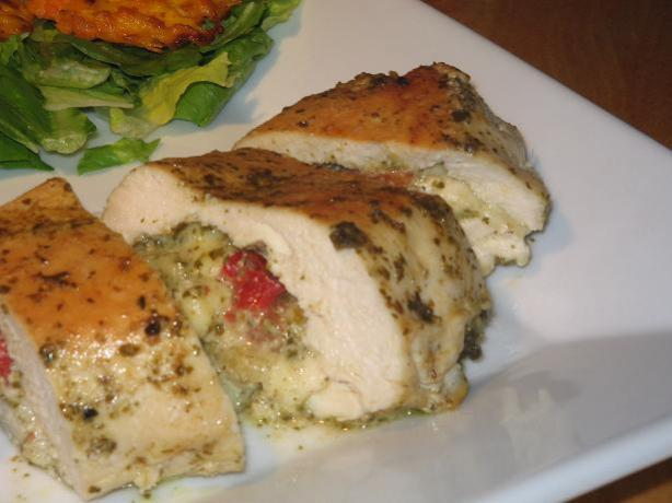 Pesto-Mozzarella Stuffed Chicken Breasts. Photo by The Flying Chef