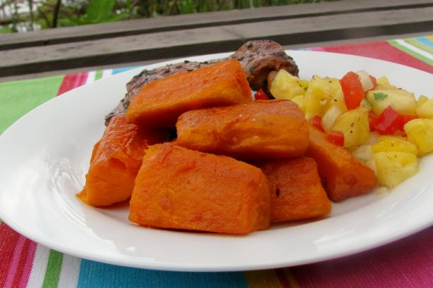 Sugar Glazed Kumara ( Sweet Potato ). Photo by lazyme