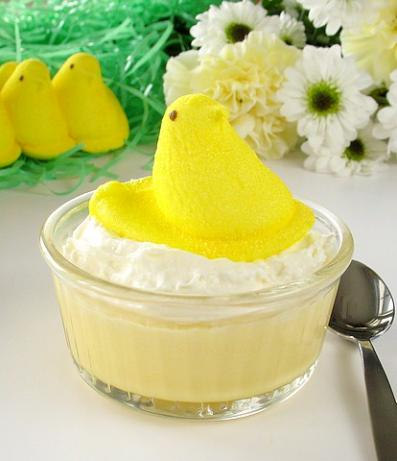 Easter Peeps Pots De Crème. Photo by Calee