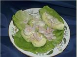 Avocado With Watercress &amp; Shrimp Appetizer