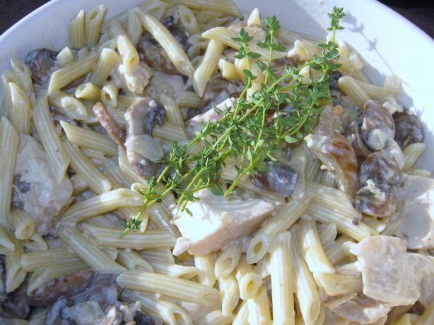 White Wine and Garlic Mushroom Cream Sauce. Photo by mary winecoff