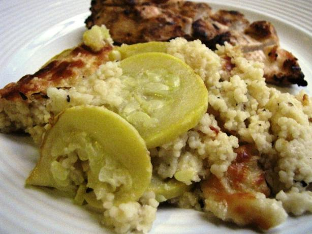 Baked Couscous With Summer Squash. Photo by loof