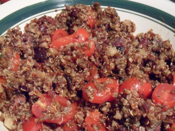 Mediterranean Quinoa Salad. Photo by Wish I Could Cook
