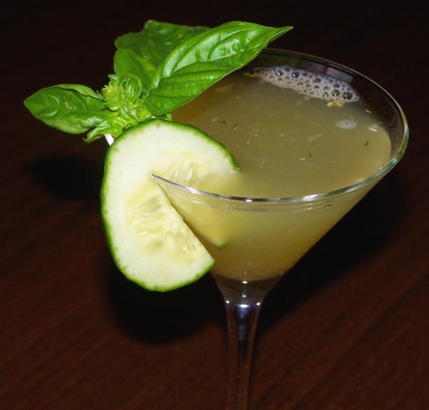 Cucumber Basil Martini. Photo by Rita~