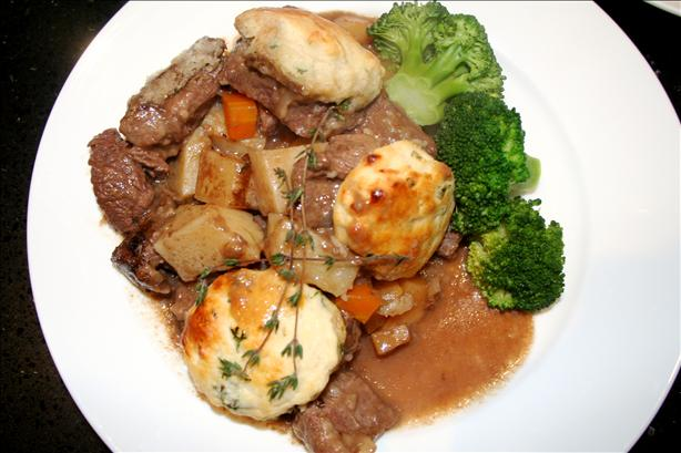 Beef Casserole With Herb Dumplings. Photo by DJoy