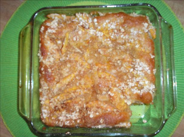 Light Fresh Peach Cobbler. Photo by Cookin'Mindy