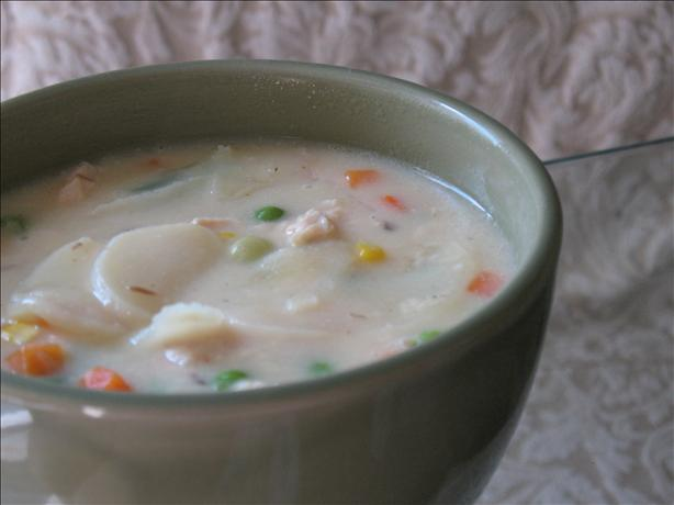Almost Too-Easy Potato-Chicken-Cheese Soup. Photo by BeckyD in Tennessee