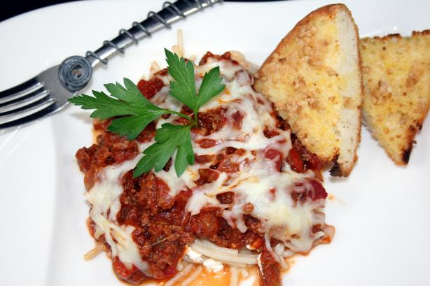 Baked Spaghetti Pie. Photo by **Tinkerbell**
