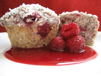 Coconut and Raspberry Muffins. Photo by Southern Polar Bear