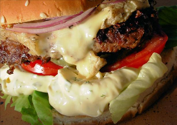 Bastille Burger - Bearnaise, Blue Cheese and Red Onion Burgers. Photo by French Tart