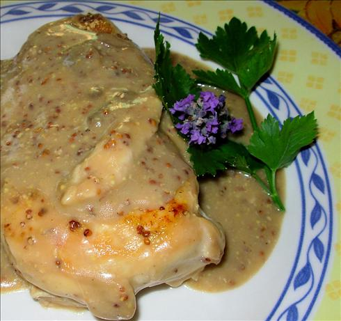 Elegant Lavender and Lemon Poached Chicken Breasts. Photo by French Tart