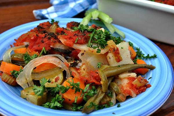 Greek Vegetable Bake. Photo by Zurie