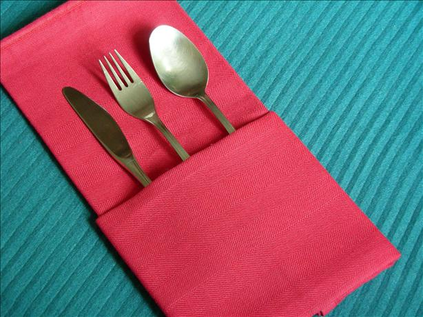 Serviette/Napkin Folding, the Simple Pocket. Photo by kiwidutch
