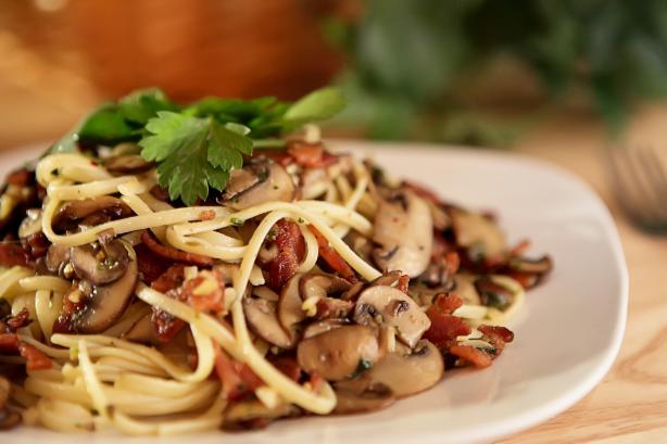 mushroom pesto pasta pasta penne with mushroom and bacon and mushroom ...