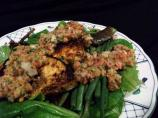 Grilled Swordfish, Green Beans and Spicy Tomato Salsa