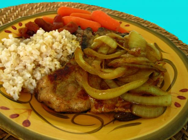 Pork Chops With Sweet Curried Onion. Photo by WiGal