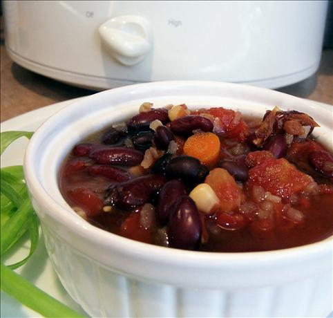 Black and Red Mexican Slow Cooker Soup. Photo by PaulaG