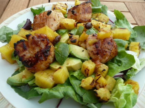 Caribbean Grilled Scallop Salad. Photo by CaliforniaJan