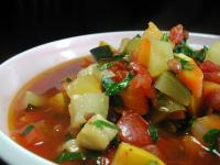 Brown Lentil and Vegetable Soup