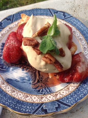 Strawberries With Kahlua Cream. Photo by Miss Fannie